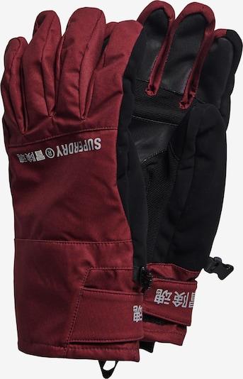 Superdry Sporthandschoenen in de kleur Wijnrood / Zwart, Productweergave