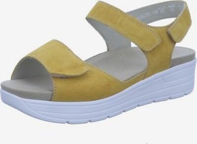 SOLIDUS Sandale in gelb / weiß, Produktansicht