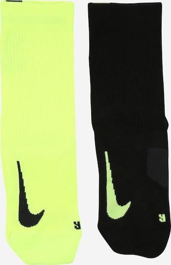 NIKE Športne nogavice 'Multiplier' | rumena / črna barva, Prikaz izdelka