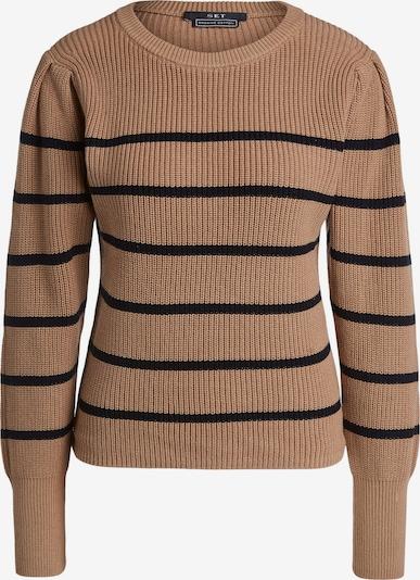 Megztinis iš SET, spalva – zomšos spalva / juoda, Prekių apžvalga