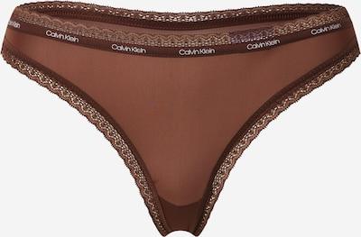 sötét barna / fehér Calvin Klein Underwear String bugyik, Termék nézet