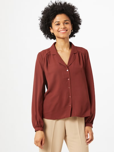 VERO MODA Blouse 'POEL' in de kleur Bordeaux, Modelweergave