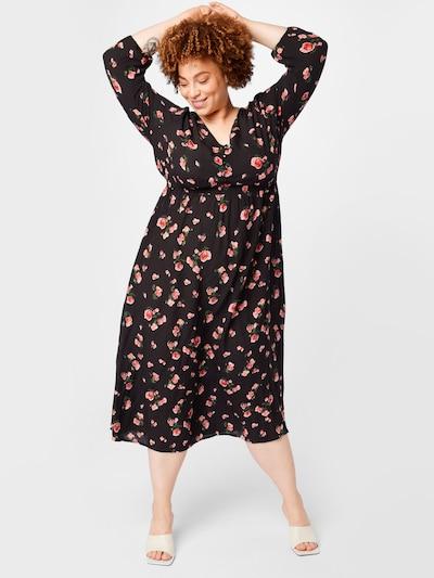 ABOUT YOU Curvy Šaty 'Mona' - červená / čierna, Model/-ka