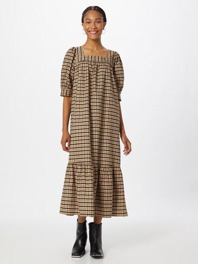 Freequent Kleid 'ERIN' in kastanienbraun / hellbraun, Modelansicht