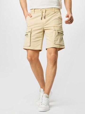 Jeans cargo 'Bayar' di tigha in beige