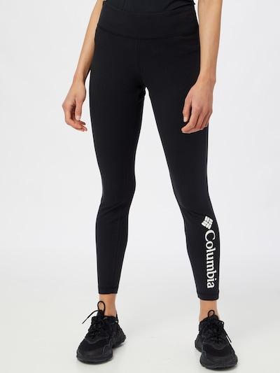 COLUMBIA Leggings in schwarz / weiß, Modelansicht