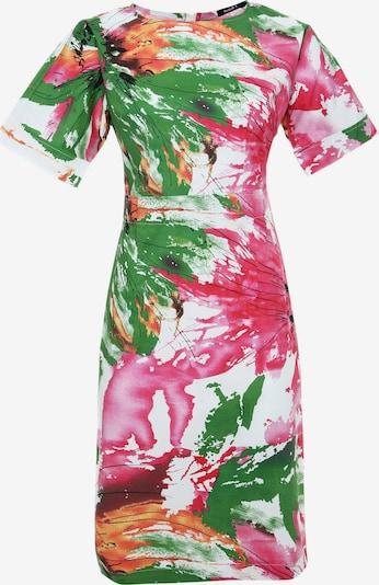 Madam-T Kokerjurk 'ALTEA' in de kleur Groen / Pink / Wit, Productweergave