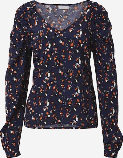Tricou 'KITTIE' VILA pe albastru noapte / portocaliu / negru / alb, Vizualizare produs