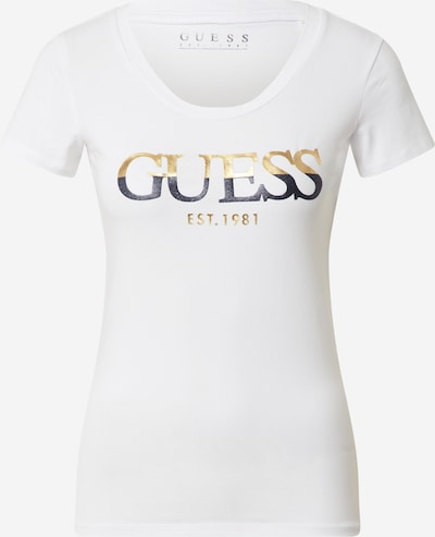 GUESS Shirt in Light beige / Night blue / Off white, Item view