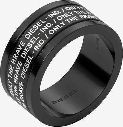DIESEL Ring in schwarz / weiß, Produktansicht