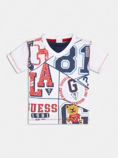 GUESS KIDS T-Shirt in marine / goldgelb / rot / weiß, Produktansicht