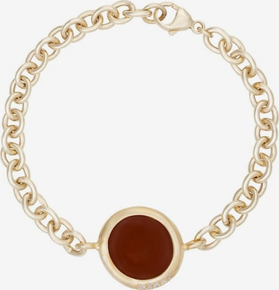 Zoccai Armband in rostbraun / gold, Produktansicht