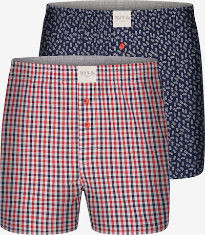Phil & Co. Berlin Boxershorts 2-Pack 'Double Classics ' in blau / rot, Produktansicht