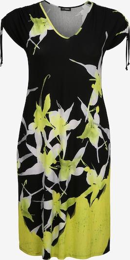 Doris Streich Kleid mit Allover-Muster in gelb / schwarz / weiß, Produktansicht