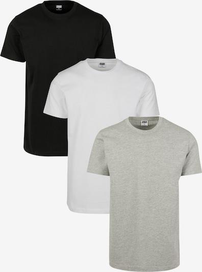 Urban Classics Tričko - sivá melírovaná / čierna / biela, Produkt