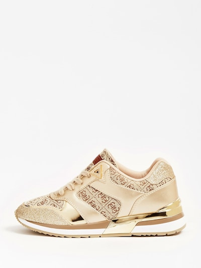GUESS Sneaker in beige / gold: Frontalansicht