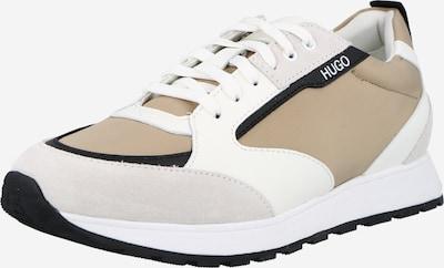 HUGO Låg sneaker 'Icelin' i beige / svart / vit, Produktvy