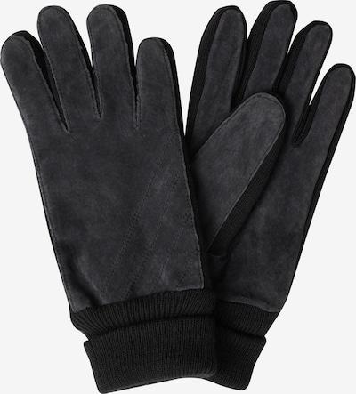 SAMAYA Lederhandschuhe 'VELOUR-THINSULATE' in schwarz, Produktansicht