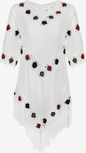 usha FESTIVAL Tuniek in de kleur Spar / Donkerrood / Zwart / Wit, Productweergave