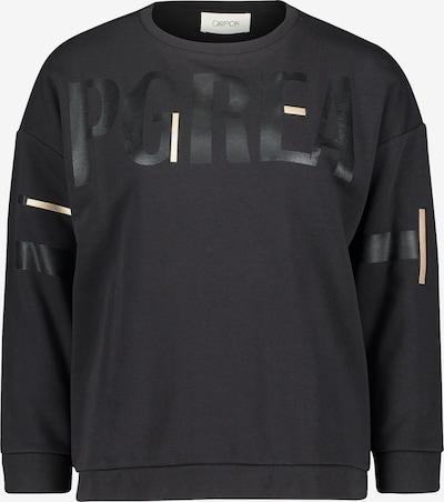 Cartoon Sweatshirt in creme / schwarz, Produktansicht