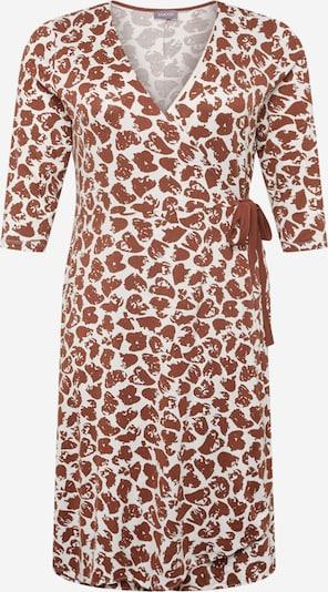 SAMOON Kleid in braun / weiß, Produktansicht