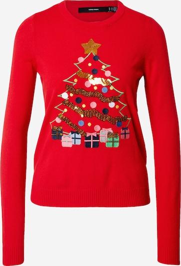 VERO MODA Pullover 'CHRISTMAS TREE' in mischfarben / rot, Produktansicht