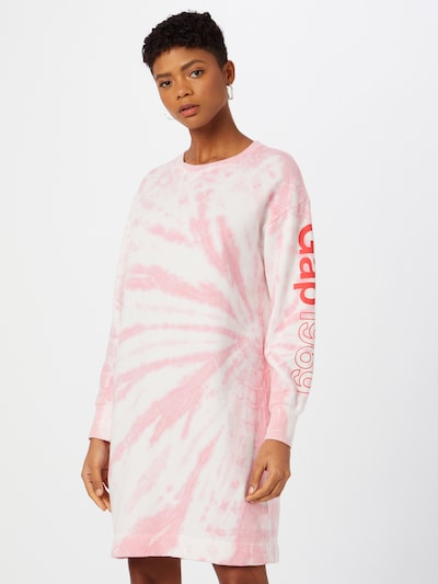 GAP Šaty - pink / bílá, Model/ka