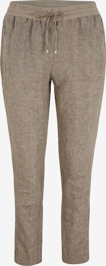 Doris Streich Leinenhose mit Reißverschlusstaschen in beige / braunmeliert, Produktansicht