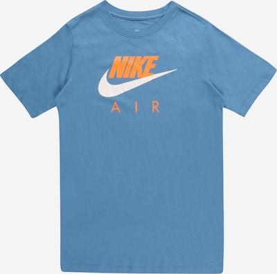 NIKE Shirt in Smoke blue / Orange / White, Item view