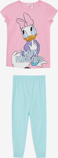 DeFacto Pyjama 'Daisy Duck' in hellblau / gelb / helllila / pink / weiß, Produktansicht