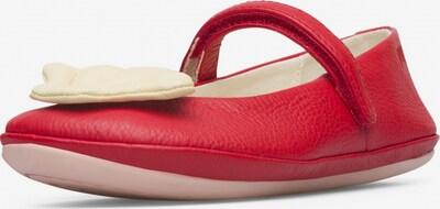CAMPER Ballerina's ' Twins ' in de kleur Beige / Rood, Productweergave