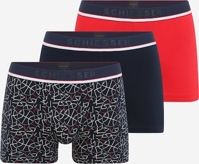 SCHIESSER Boxershorts in dunkelblau / rot / schwarz / weiß, Produktansicht
