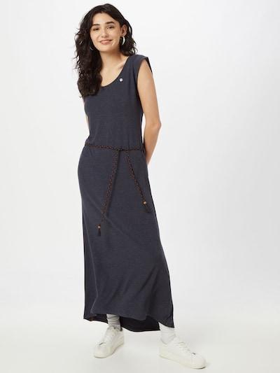 Ragwear Kleid 'TAG' in nachtblau / karamell, Modelansicht