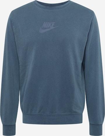 Bluză de molton de la Nike Sportswear pe albastru