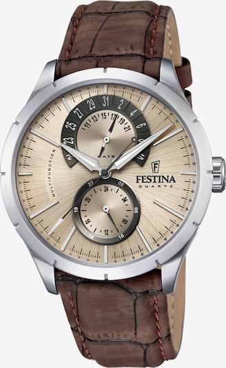 FESTINA Armbanduhr in beige / braun, Produktansicht