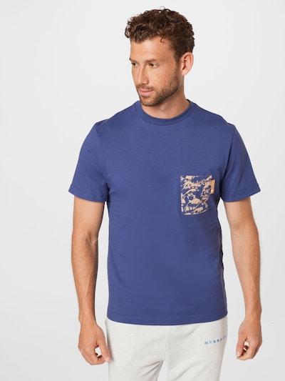 Degree Тениска 'Wavey' в светлокафяво / виолетов: Изглед отпред