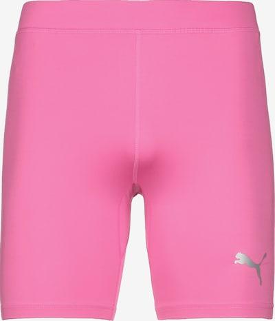 PUMA Sportunterhose in hellgrau / neonpink, Produktansicht