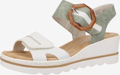 RIEKER Sandales en menthe / blanc, Vue avec produit