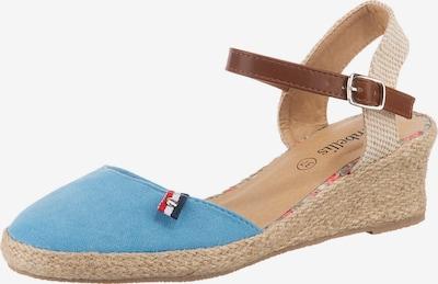 ambellis Sandale in beige / hellblau, Produktansicht