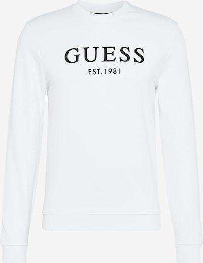 GUESS Sweat-shirt 'Beau' en noir / blanc, Vue avec produit
