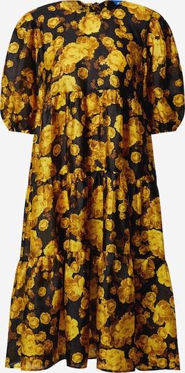Crās Jurk 'Lilicras' in de kleur Geel / Zwart, Productweergave