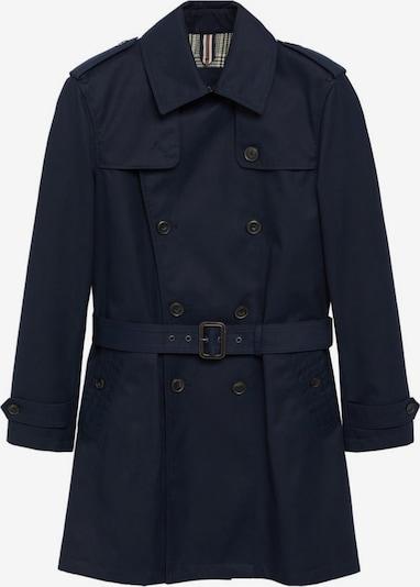 MANGO MAN Manteau mi-saison en bleu marine, Vue avec produit