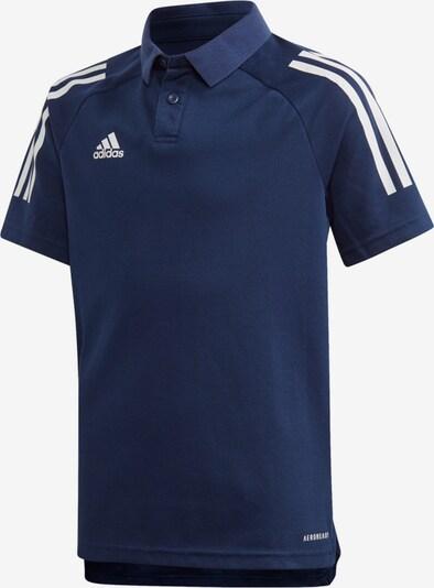 ADIDAS PERFORMANCE Poloshirt in dunkelblau / weiß, Produktansicht