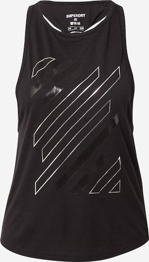 Sportiniai marškinėliai be rankovių iš Superdry, spalva – juoda / sidabrinė, Prekių apžvalga