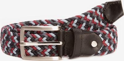 BA98 Flechtgürtel in grau / rot / weiß, Produktansicht