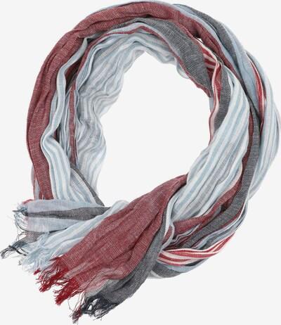 Venti Sjaal in de kleur Basaltgrijs / Rood, Productweergave