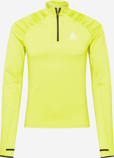 ODLO Športová mikina 'Axalp' - žltá / citrónová / čierna, Produkt