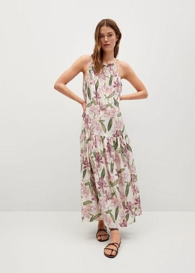 MANGO Kleid 'Lula' in nude / oliv / pastellpink, Modelansicht