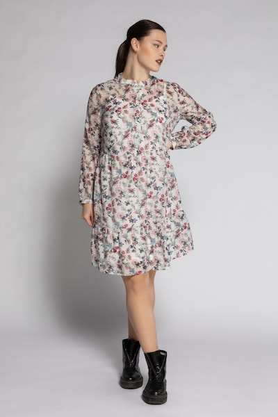 Studio Untold Kleid in blau / grün / pink / offwhite, Modelansicht