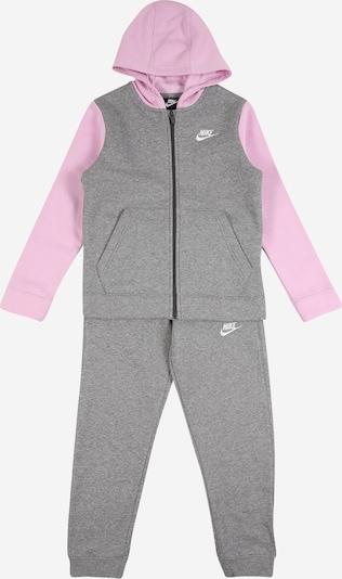 Nike Sportswear Joggingpak in de kleur Grijs / Rosa, Productweergave